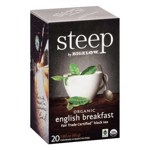 Bigelow STEEP Organic English Breakfast Tea 20ct
