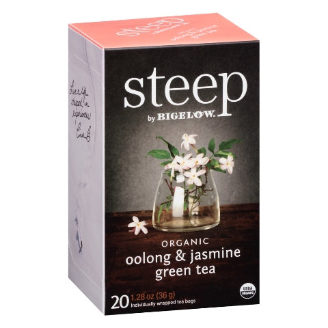 Bigelow STEEP Organic Oolong Jasmine Green Tea 20ct