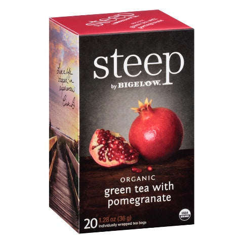 Bigelow STEEP Organic Pomegranate Green Tea 20ct