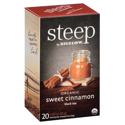 Bigelow STEEP Organic Sweet Cinnamon Black Tea 20ct