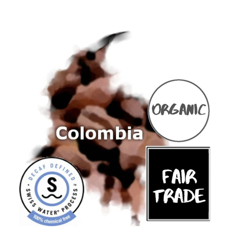 Colombian Fair Trade Organic Swiss Water Decaf Coffee