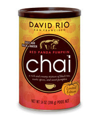 David Rio Red Panda Pumpkin Chai 14oz