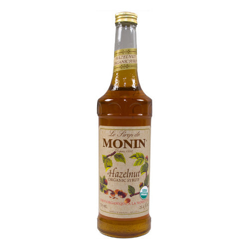 Monin Organic Hazelnut Syrup 750 mL
