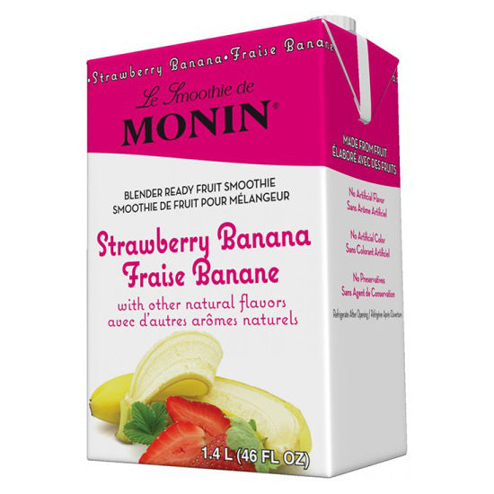 Monin Strawberry Banana Smoothie Mix 46 oz