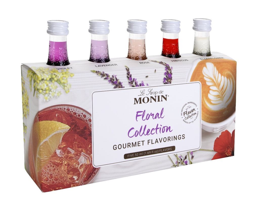 Monin Coffeehouse Sample Bottles-Floral Edition