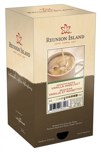 Reunion Island Decaf Vanilla Hazelnut Pods 18ct