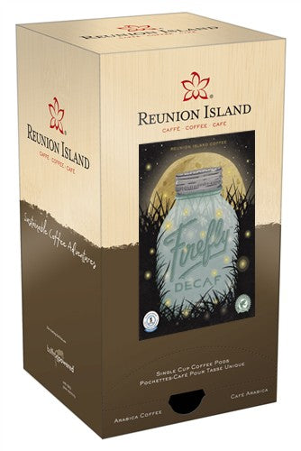 Reunion Island Firefly Decaf SWP Pods 18ct