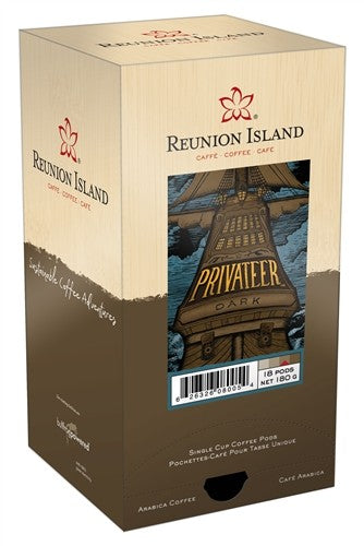Reunion Island Privateer Dark Roast Pods 18ct