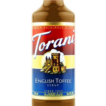 Torani English Toffee Syrup 750 mL