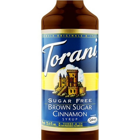 Torani Sugar Free Brown Sugar Cinnamon Syrup 750 mL