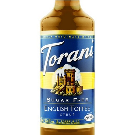 Torani Sugar Free English Toffee Syrup 750 mL