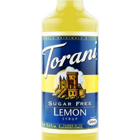 Torani Sugar Free Lemon Syrup 750 mL