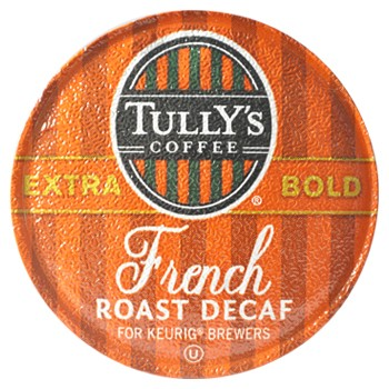 Tullys French Roast Decaf 96 ct
