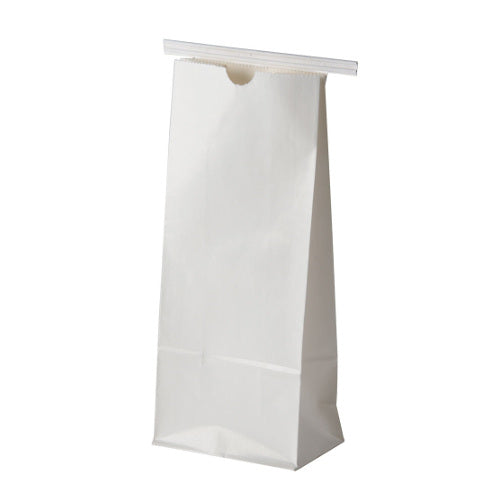 8 oz White Tin Tie Coffee Bags