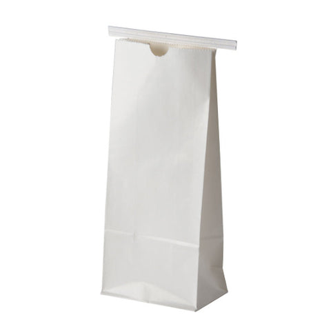 White Tin Tie Coffee Bag