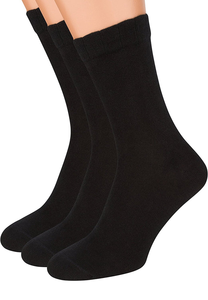 Air Mens Socks, 3 pack Rich European Dress Organic Cotton Socks -Top Relaxed Grip