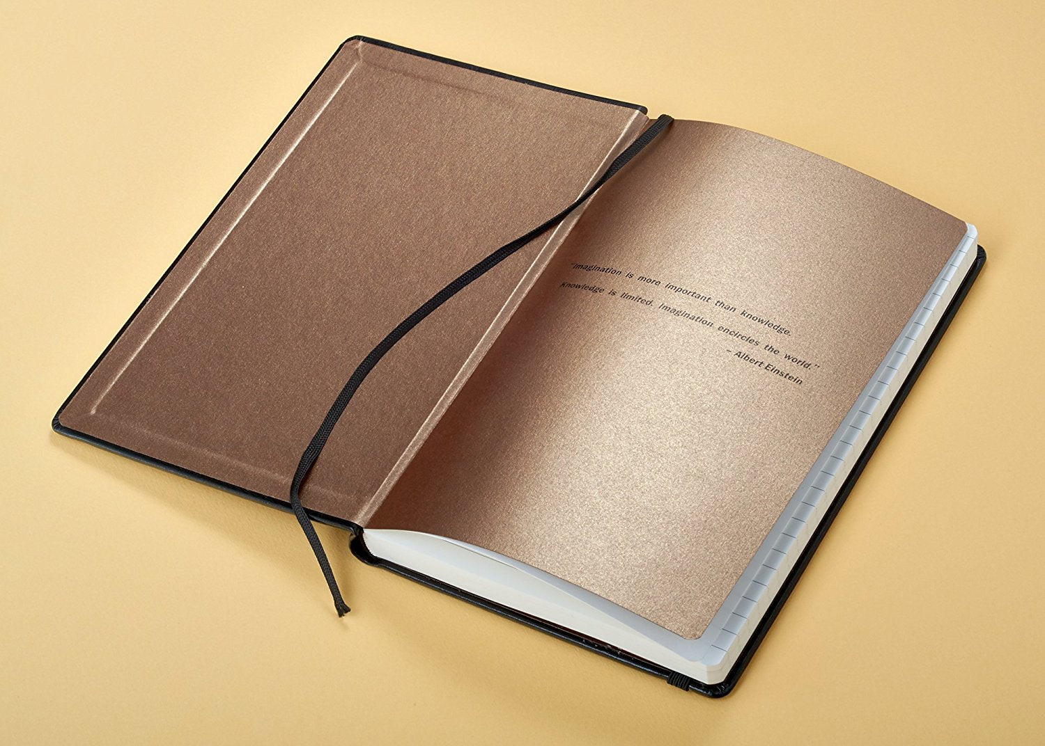 Black Hardcover Notebook for Men, A5 Executive Journal, Gold Emboss, Lined Cream Paper, Gift Box