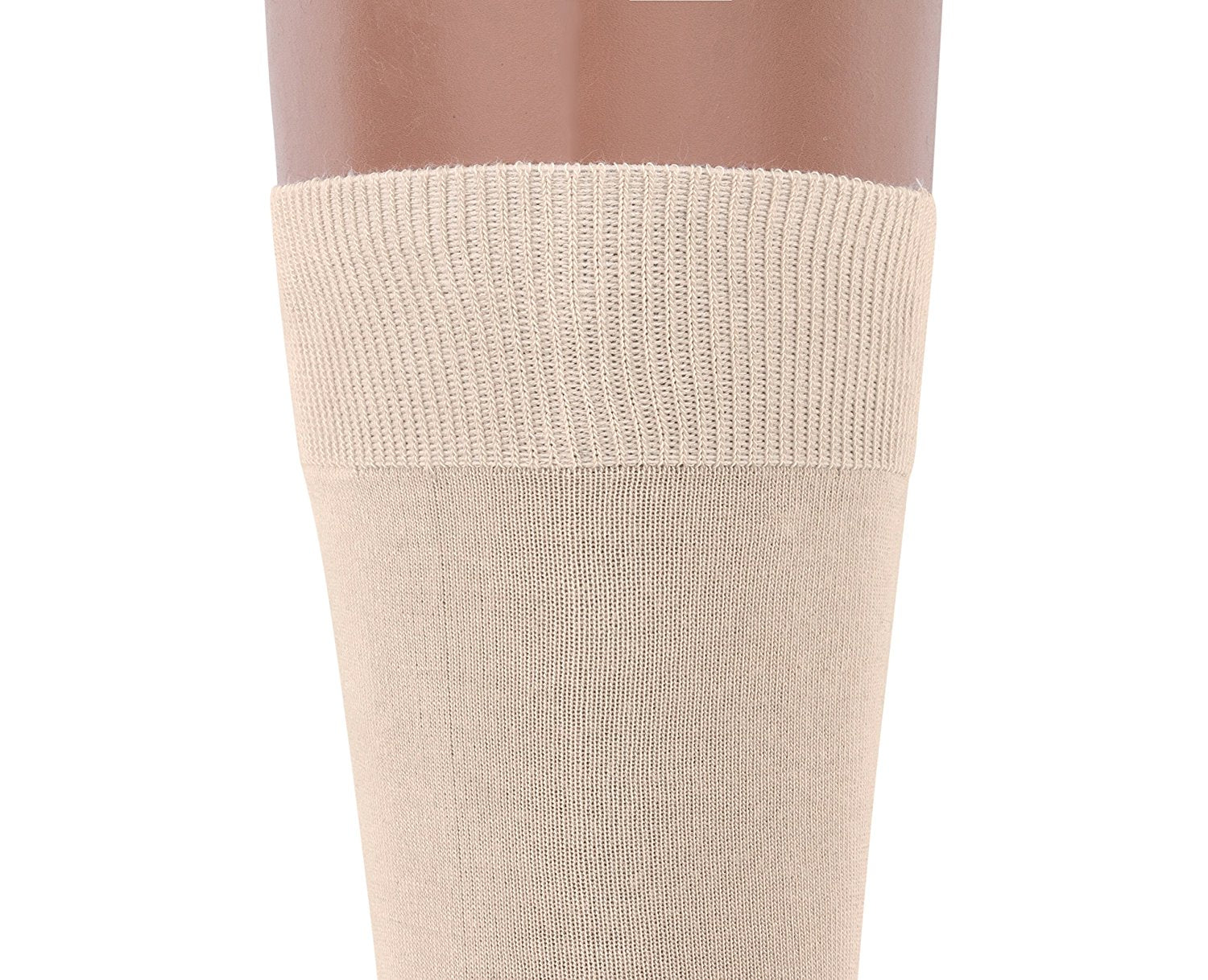 Air Dress Socks Crew – 3 pack Rich European Thin Bamboo Khaki Beige Tan Sock