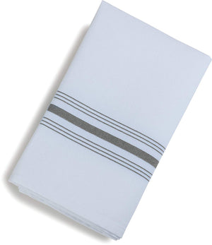 "Carlisle Dinner/Bistro Napkins, 18"" x 22"", Gray Stripe (Pack of 12)"