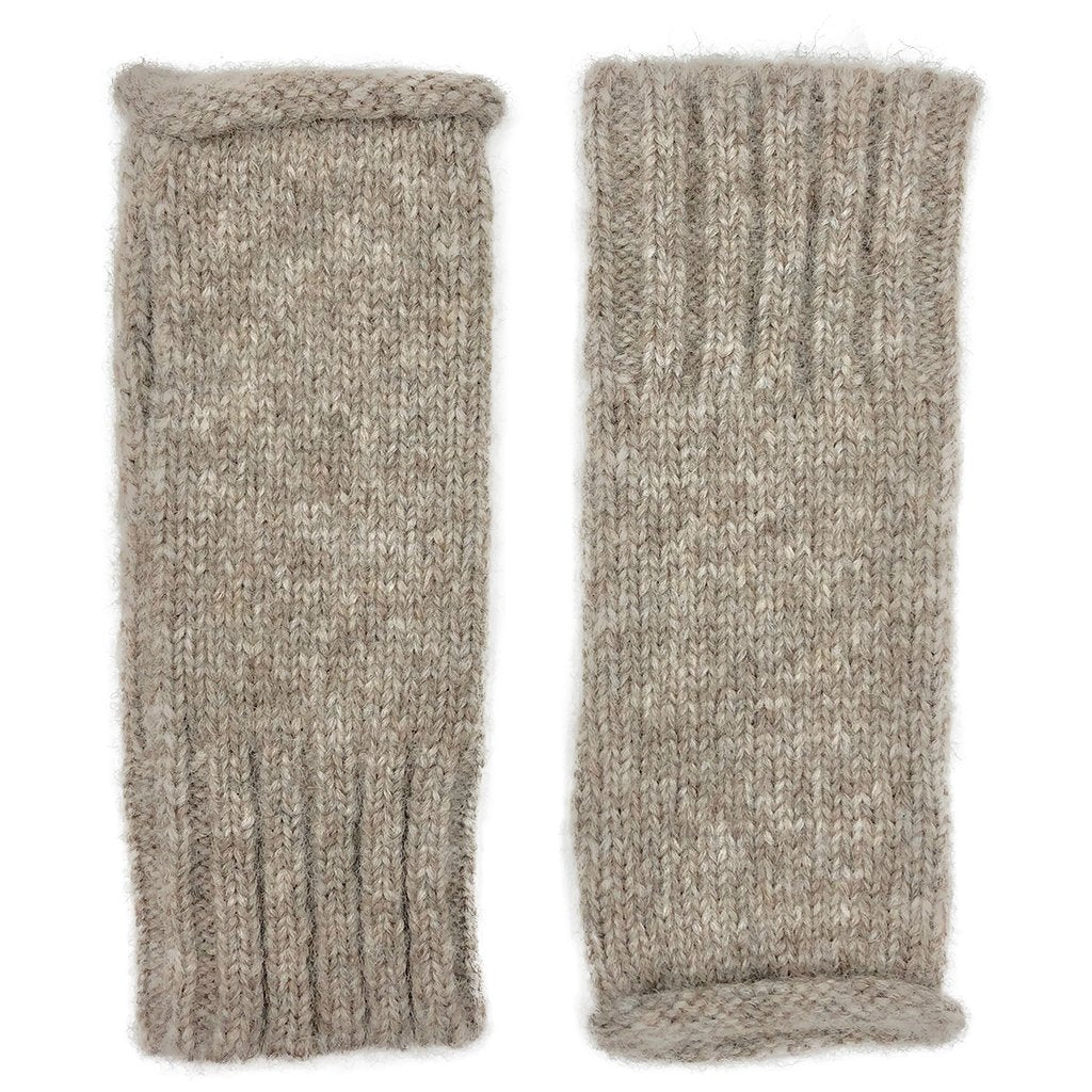 Beige Essential Knit Alpaca Gloves