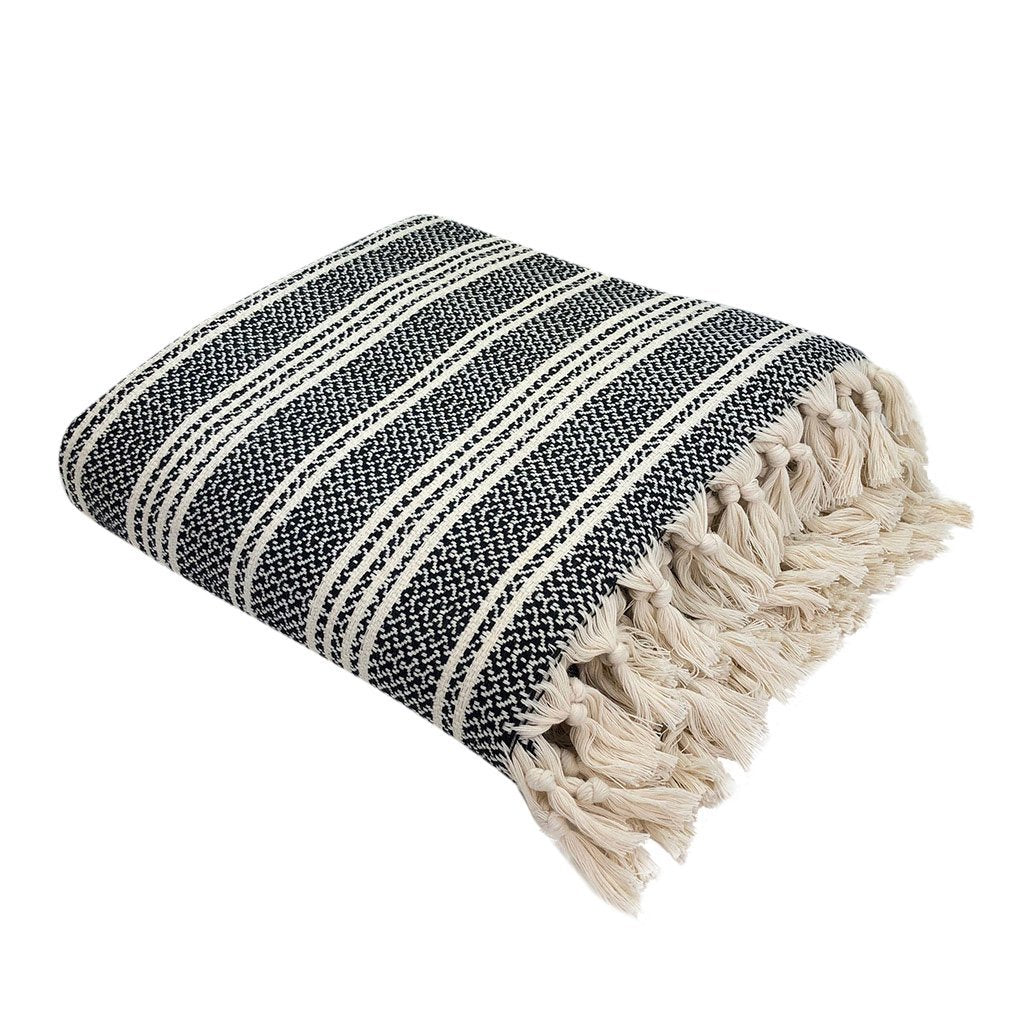 Woven Stripe Turkish Throw