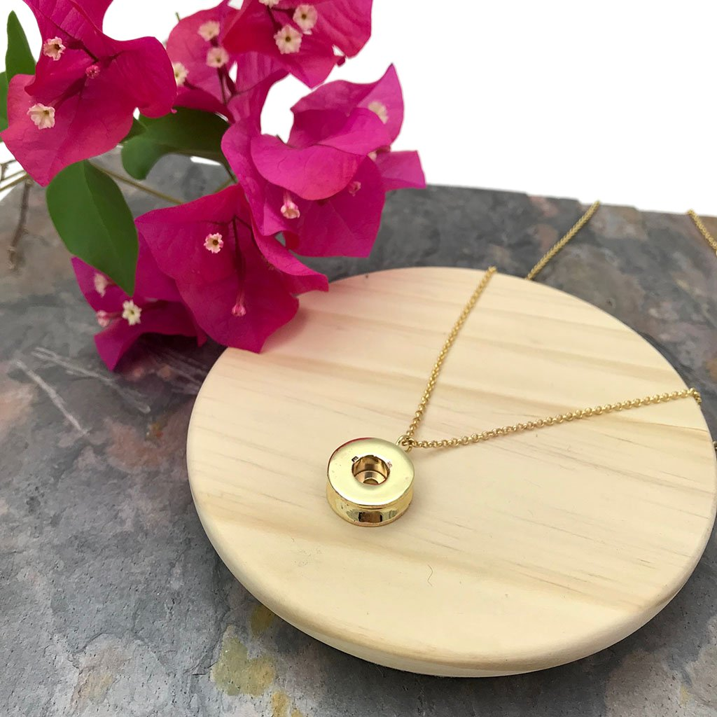 Shell Casing Pendant Necklace