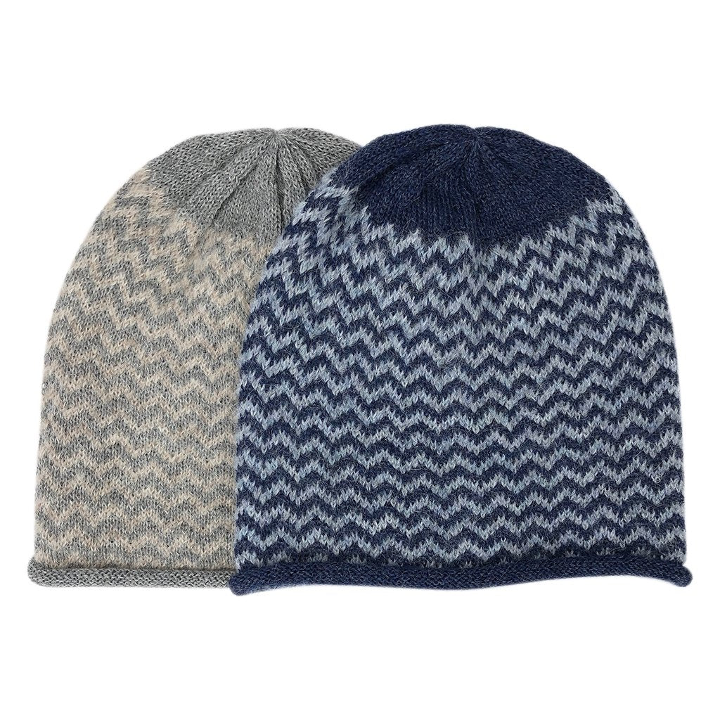 Harbor Chevron Knit Alpaca Beanie
