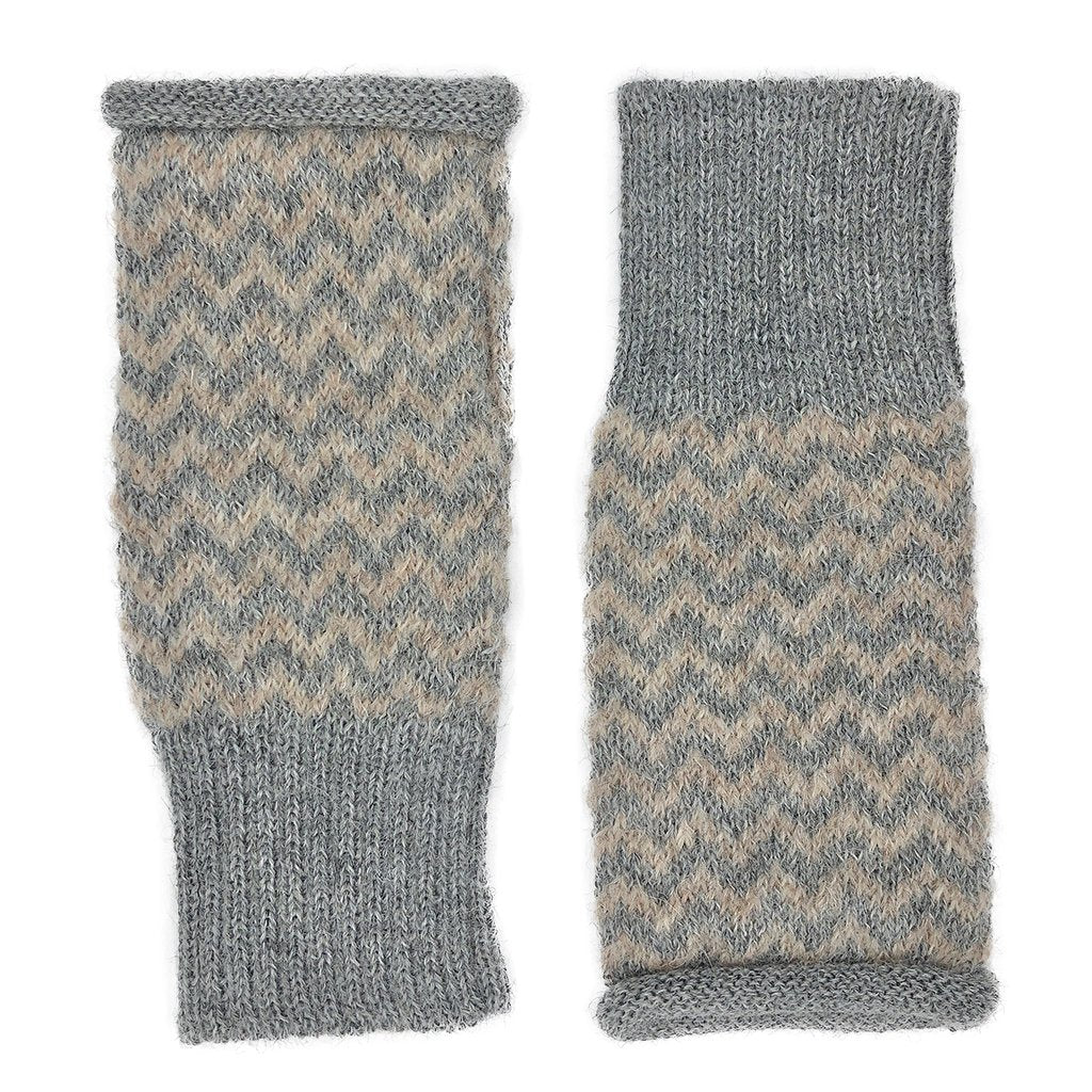 Harbor Chevron Knit Alpaca Gloves