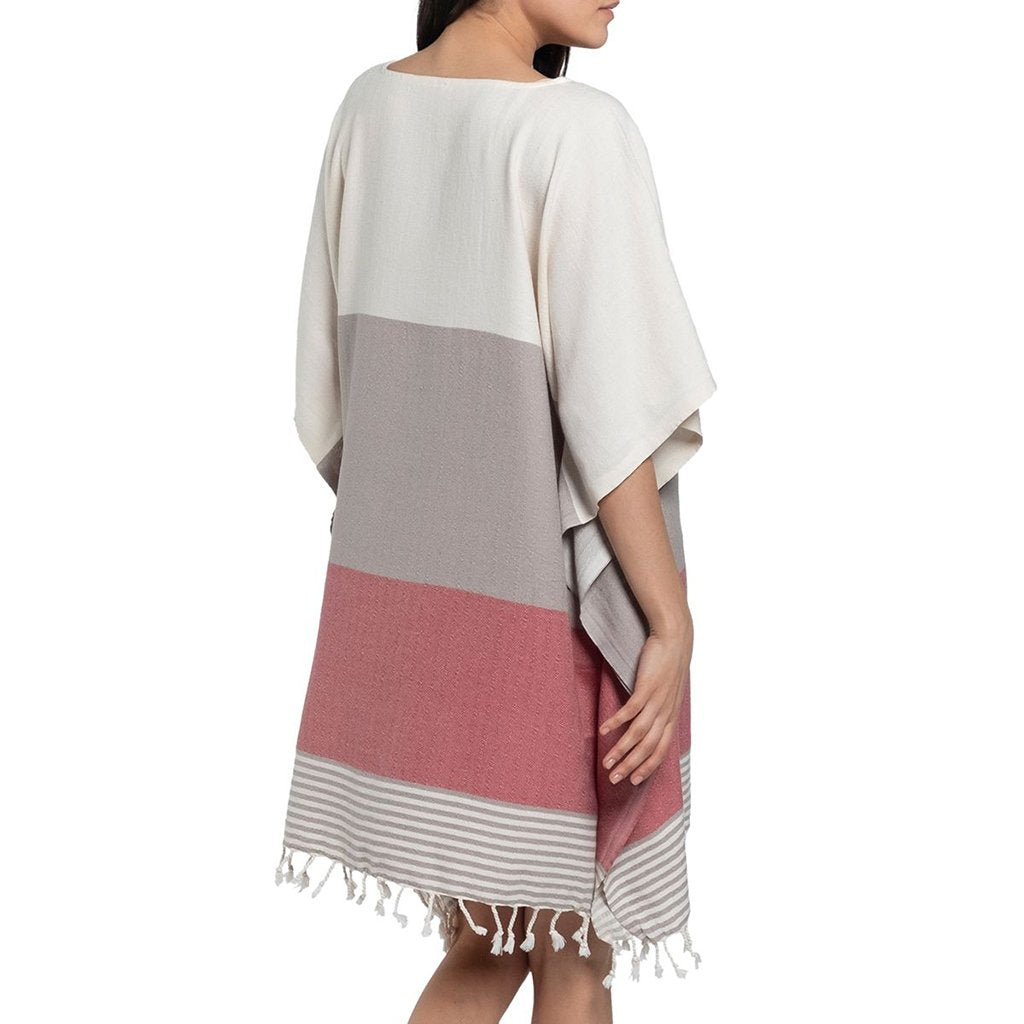 Rose Color Block Turkish Tunic