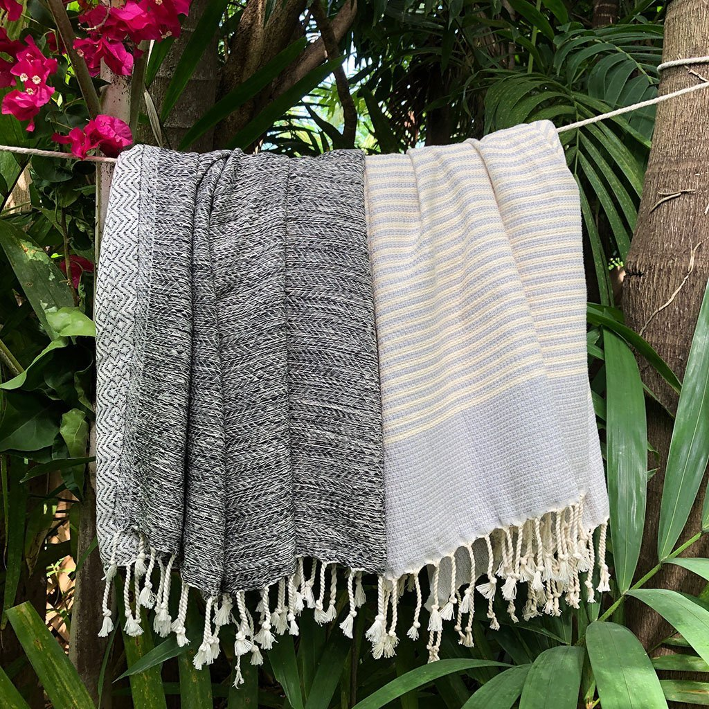 Textured Stripe Turkish Towel