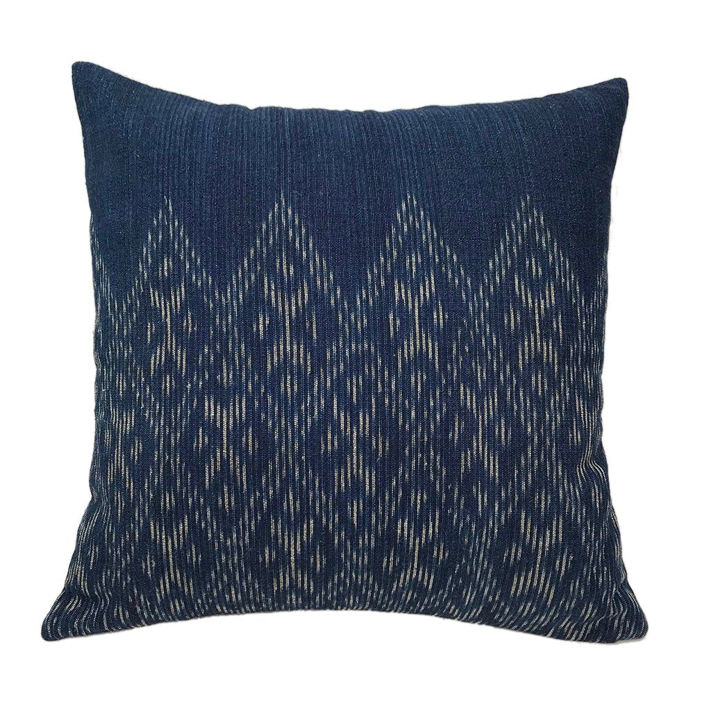 Indigo Diamond Pillow Cover