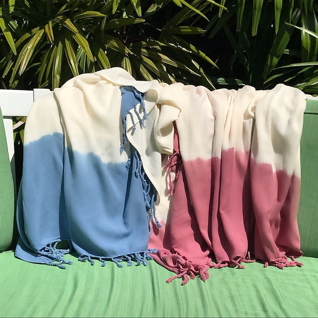 Rose Dip Dye Turkish Beach Towel