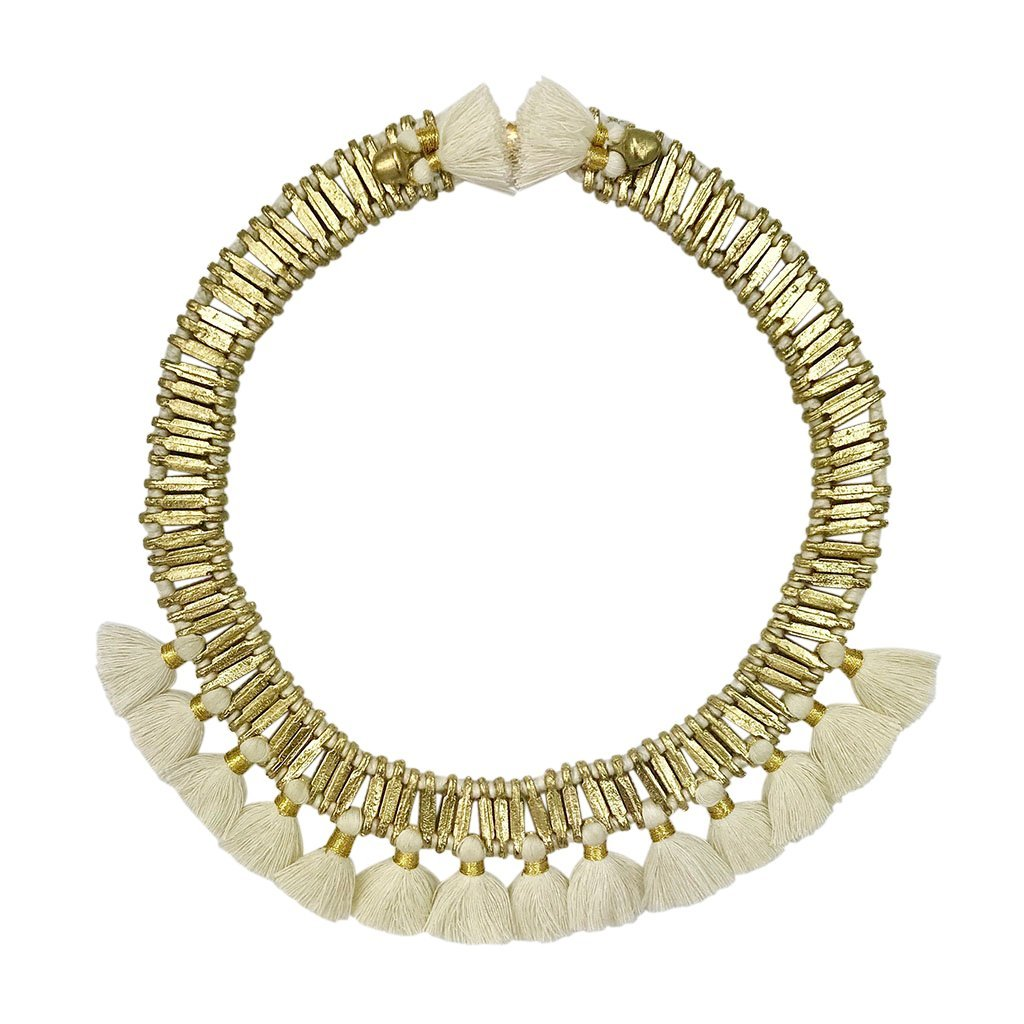 Temple Tassel Collar Necklace