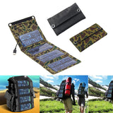 Folding Solar Panel Bank – Waterproof External Charger For Smart Phones and Outdoor Travelling