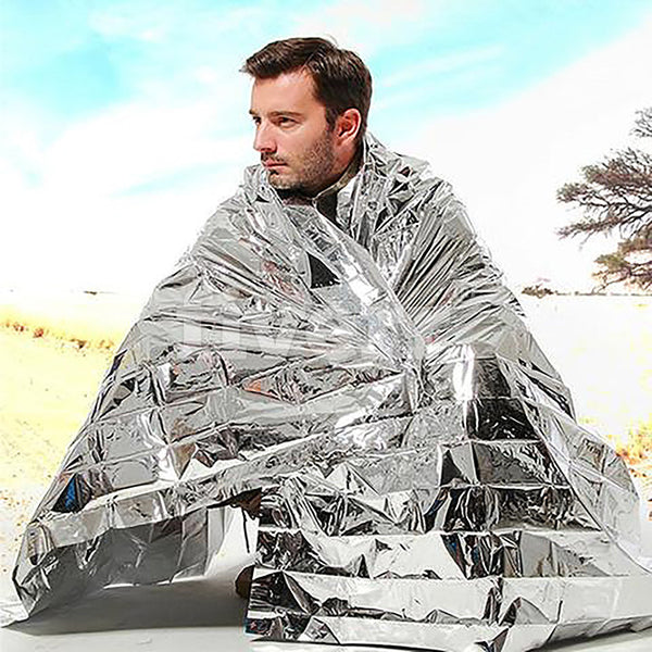 New Outdoor Waterproof Emergency Survival Rescue Blanket Thermal Foil Sliver Rescue Blanket