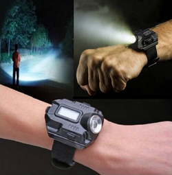 Tactical LED Wrist Watch and Rechargeable Flashlight