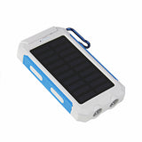 Waterproof Solar Power Bank w/ Dual USB Battery Charger – Travel Powerbank for all Phones