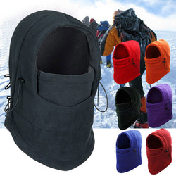 Thermal Fleece Balaclava Face Mask for Outdoor Sports – Skiing, Snowboarding, etc. – Windproof Hood, Warm Neck Thermal Scarf