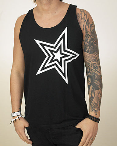 Pauly D Black Tank Top with White Star