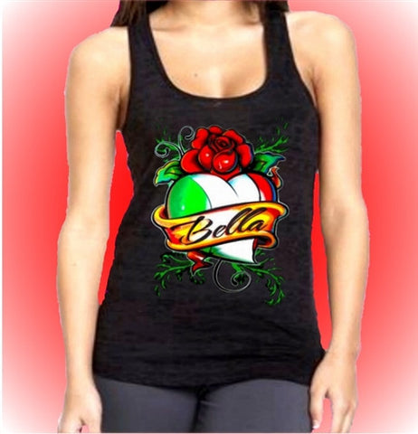 Bella and Heart Burnout Tank Top Women's