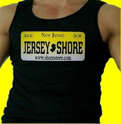Jersey Shore License Plate Tank Top M 55 - Shore Store