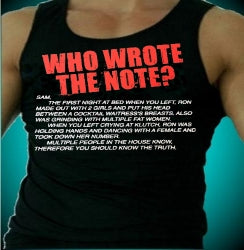 Jersey Shore Who Wrote The Note? Men's Tank Top
