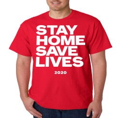 Stay Home Save Lives Coronavirus T-Shirt