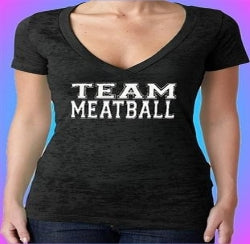 Jersey Shore Family Vacation Team Meatball Burnout V-Neck