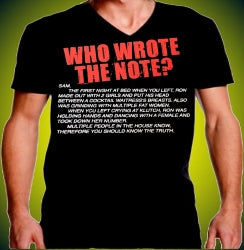 Jersey Shore Who Wrote The Note? Men's V-Neck