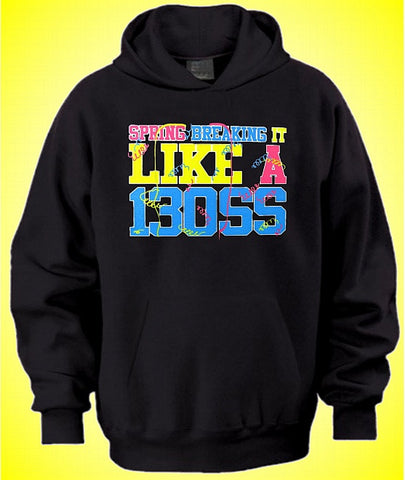 Spring Breaking It Like A Boss Hoodie 626