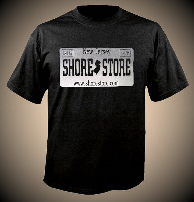 Shore store Gray License Plate T-Shirt
