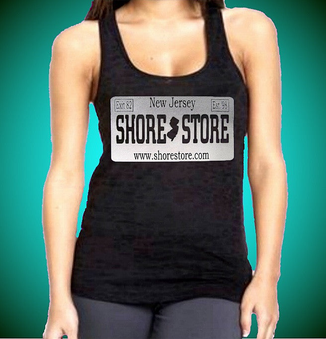 Shore Store Gray License Plate Burnout Tank Top