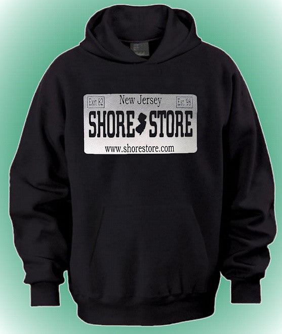 Shore Store Gray License Plate Hoodie