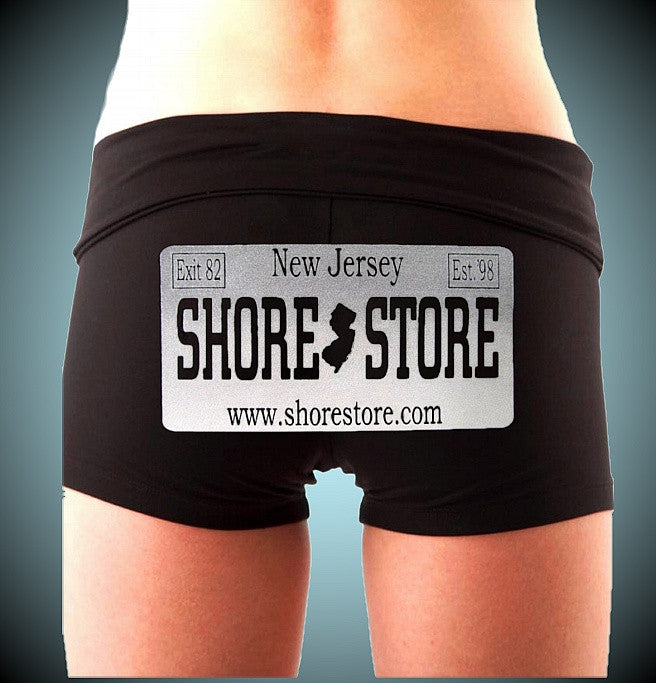Shore Store Gray License Plate Shorts